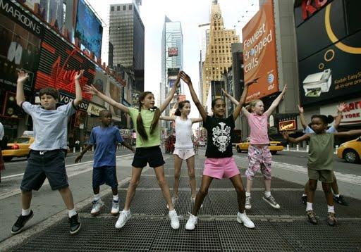 New York com crianças