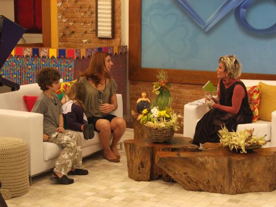 Patricia Papp no Programa Mais Você com a Ana Maria Braga