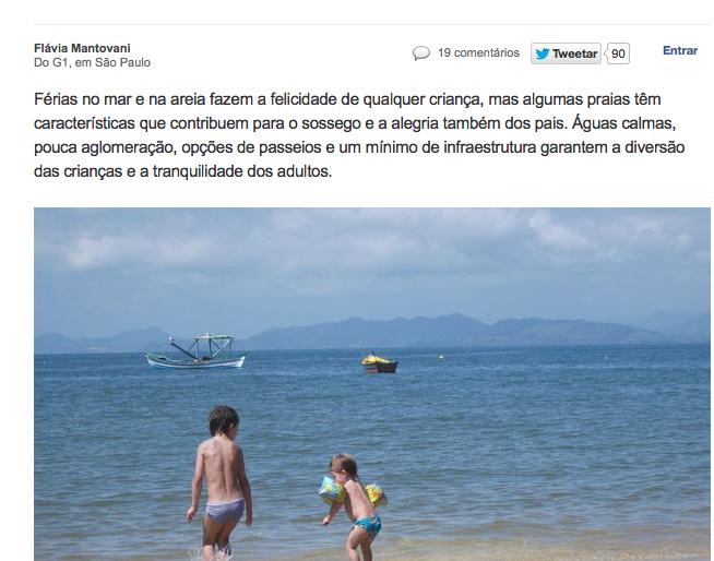 10 praias para ir com crianças
