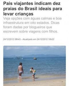 G1 Praia com crianças