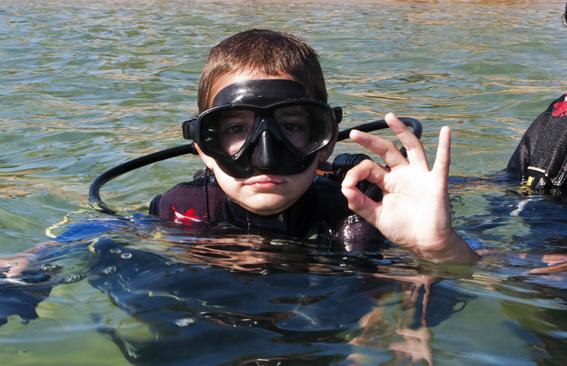 Mergulho (de cilindro) para crianças