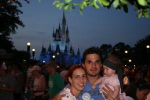 Na Disney, com 6 meses