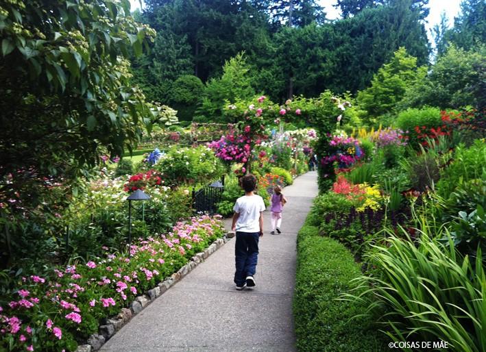 Canadá com Crianças: The Butchard Gardens