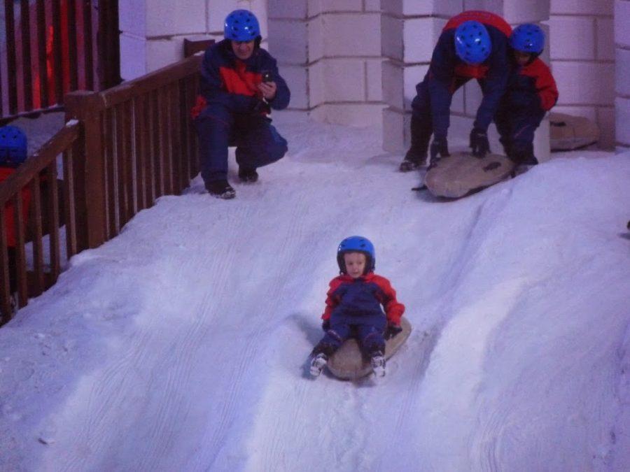 Snowland em Gramado com crianças pequenas