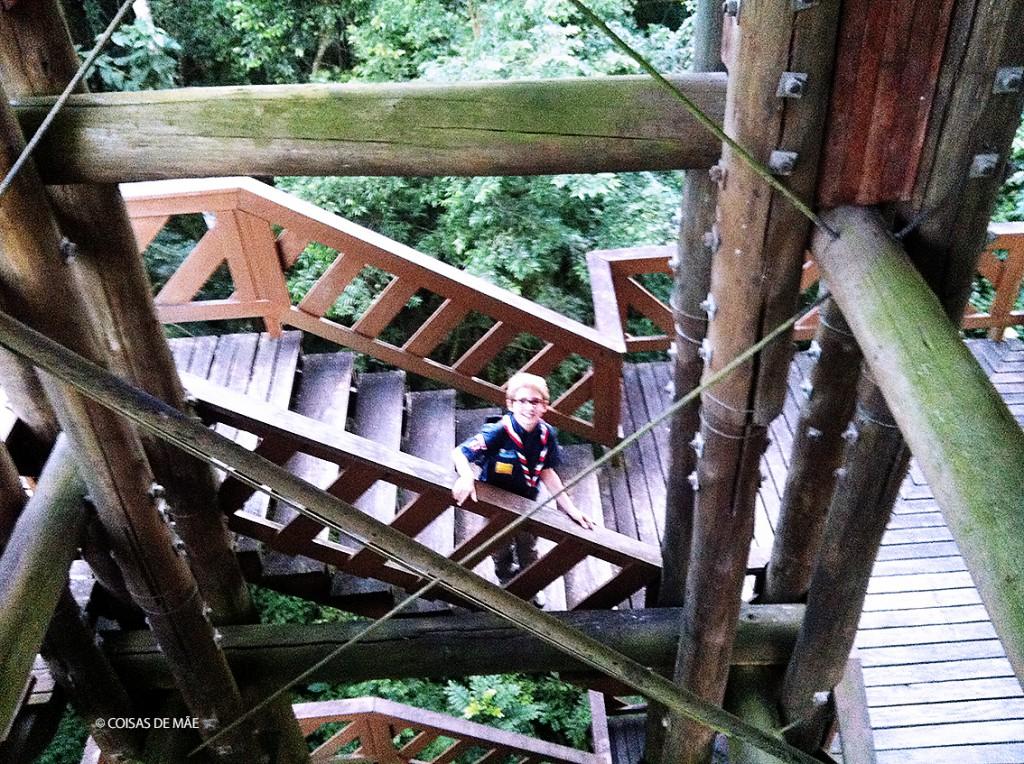 Bosque Alemão com crianças