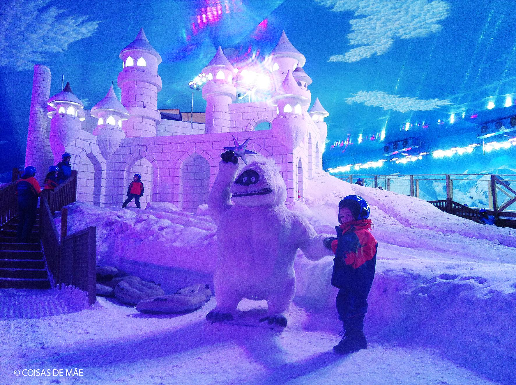 Snowland com filhos pequenos