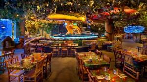 Disney com Crianças Rainforest Cafe Animal Kingdom