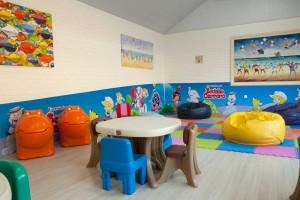 Hotel com crianças Resort Infinity Blue Balneário Camboriú área recreativa