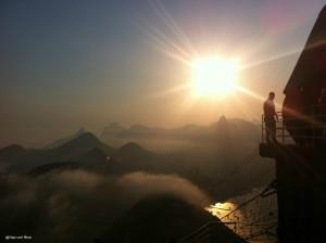 Pôr do Sol no Bondinho do Pão de Açúcar - Rio com crianças