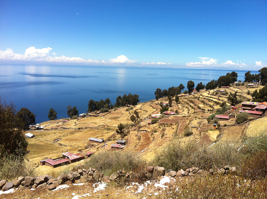 Vista do alto de Taquile