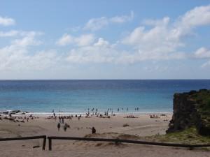 Praia de Anakena, Ilha da Páscoa, Chile com crianças