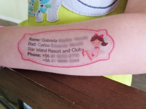 Tatuagem Infantil de Segurança