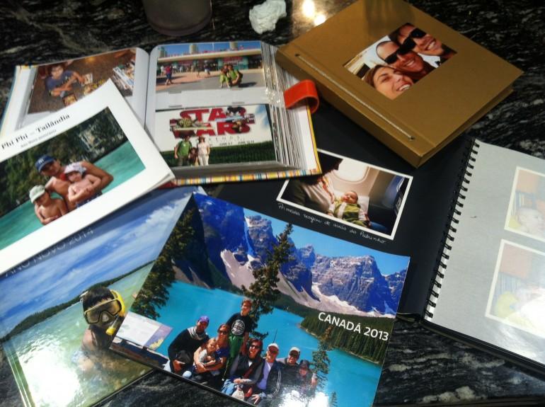 Album das fotos de viagem