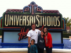 Família toda no Universal Studios
