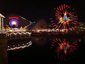 O parque fica mais bonito a noite!