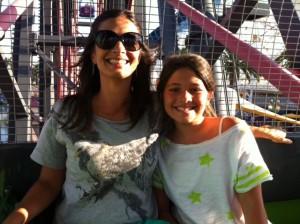Eu e Nina na Roda Gigante
