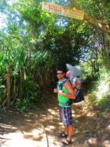 O inicio da trilha para Jeribucacu