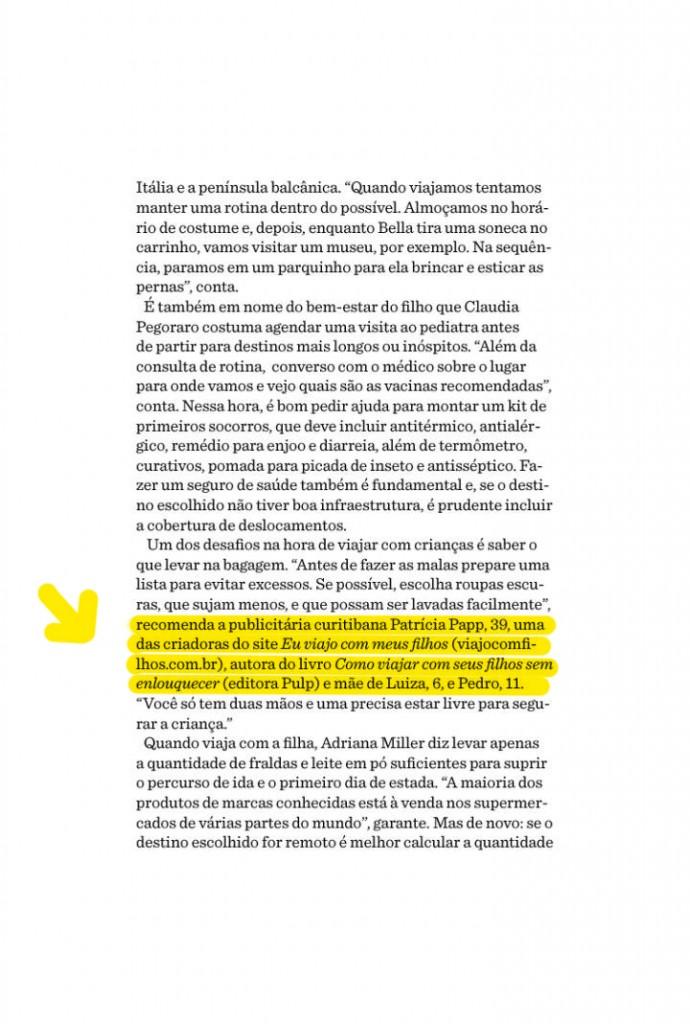 Patricia Papp na Revista Gol