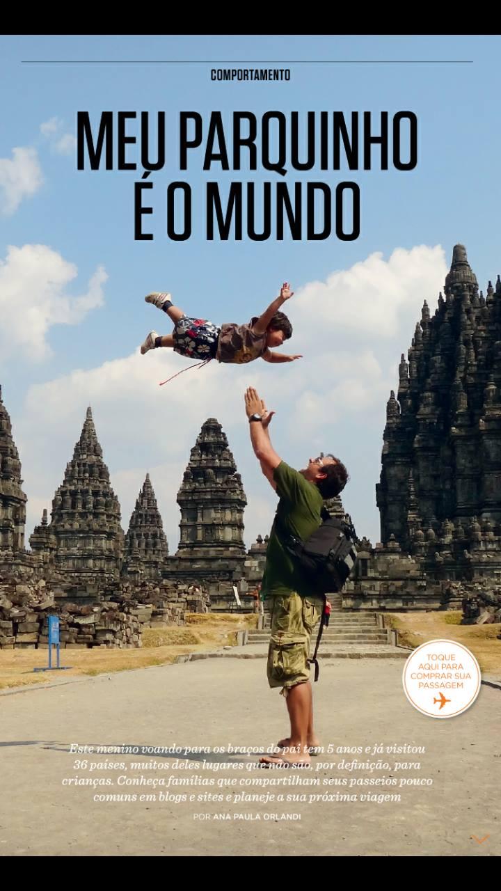 Blogs de viagens com crianças na Revista da Gol