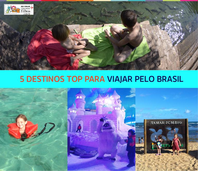 5 destinos top para viajar com filhos pelo Brasil