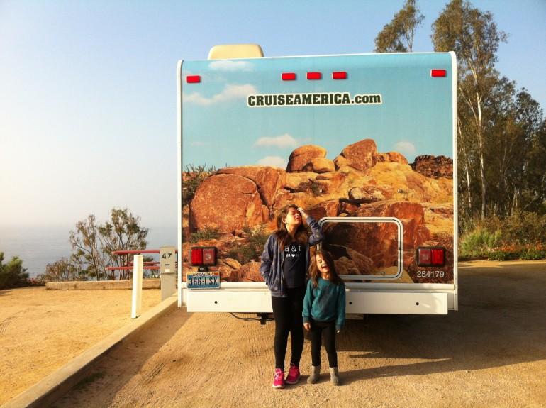 Califórnia de motorhome com crianças