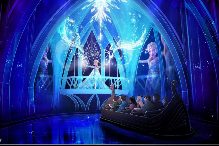 Nova atração Frozen no Epcot Center