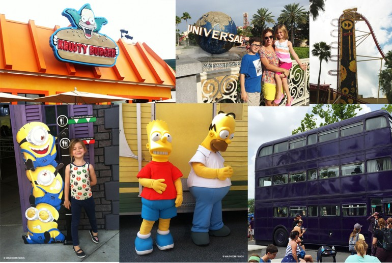Universal Orlando com Crianças de idades diferentes (com altura dos brinquedos)