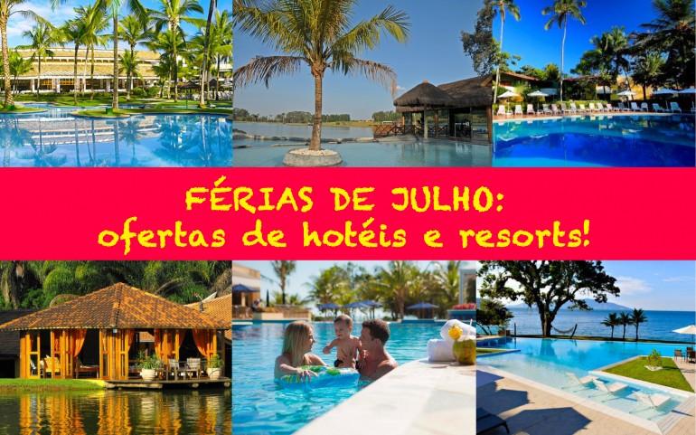 Ofertas de hotéis e resorts para as férias de Julho