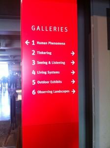 O Exploratorium é dividido em 6 galerias