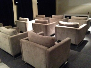 Poltronas superconfortaveis do cinema!