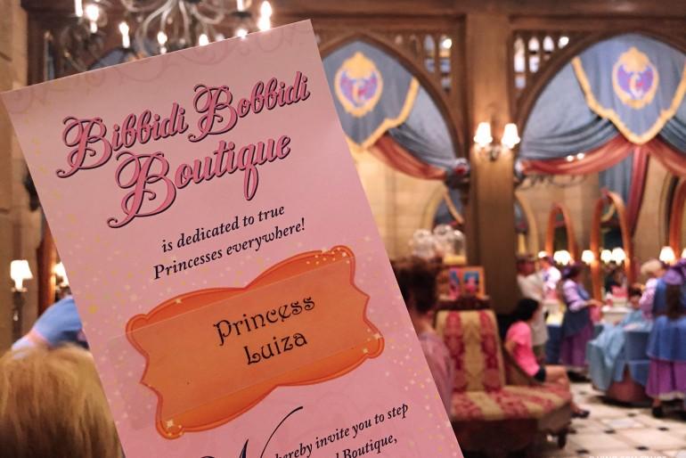 Bibbidi Bobbidi Boutique – Dia de Princesa na Disney
