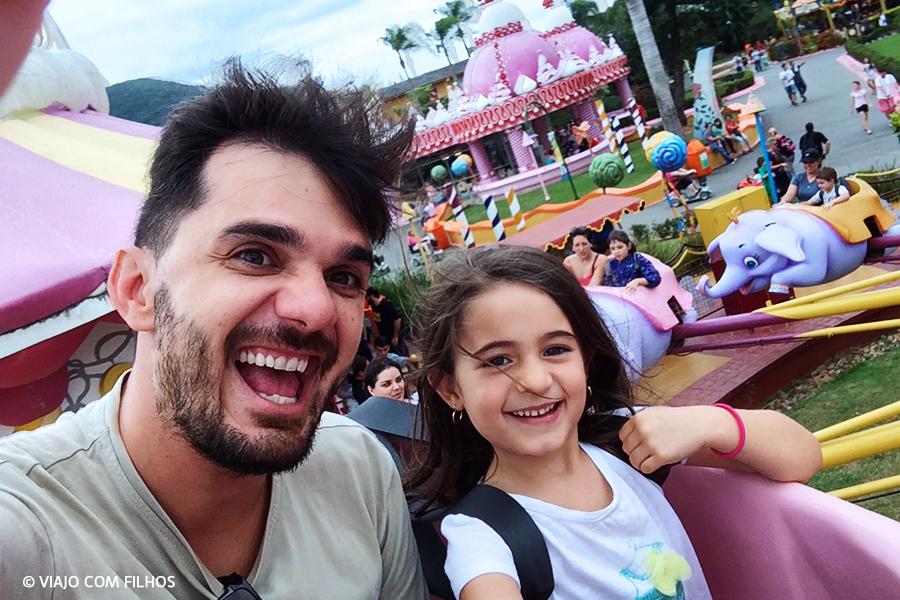 Beto Carrero com filhos