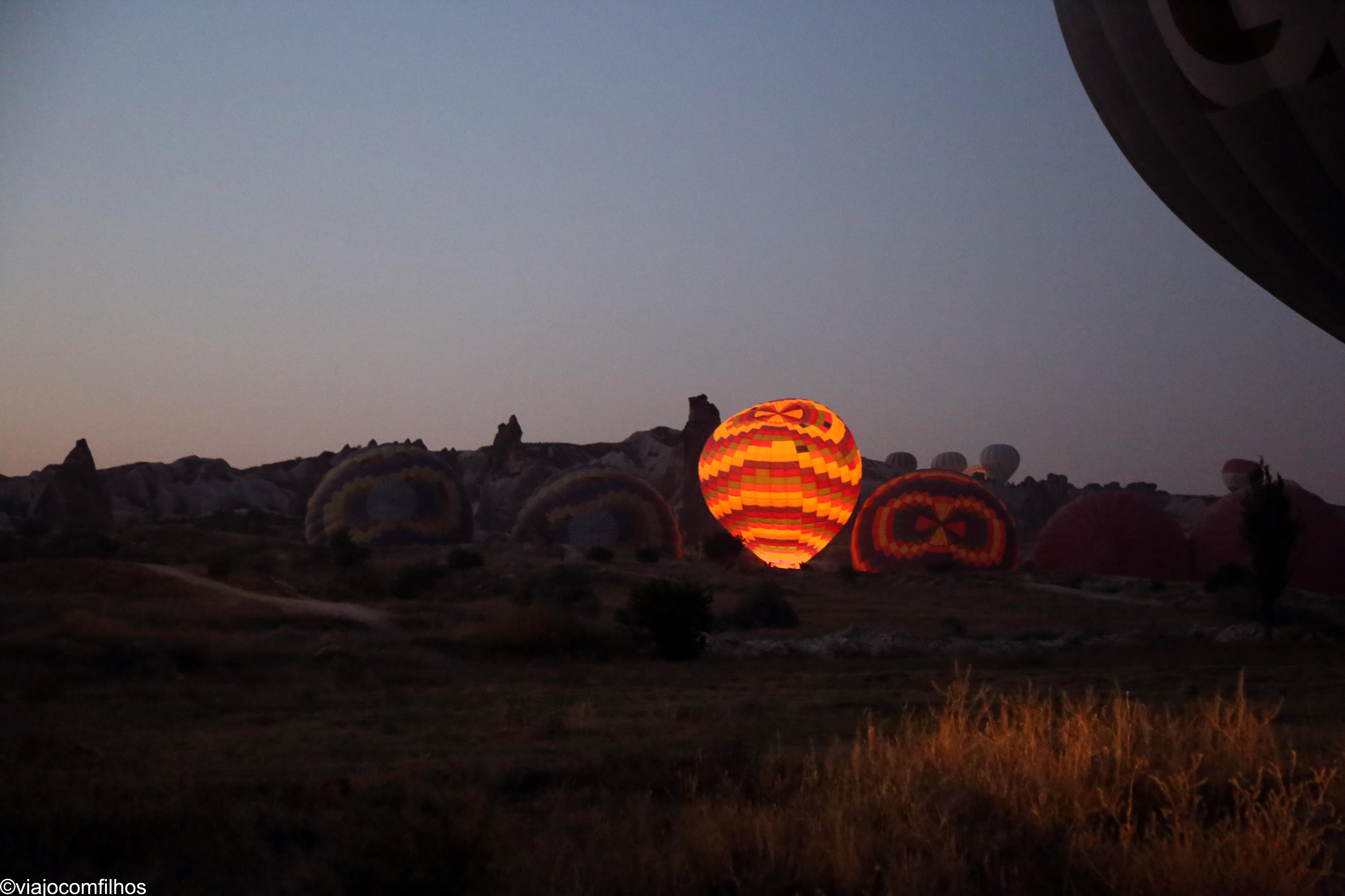 Preparação dos balões