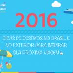 2016 - Destinos para viajar
