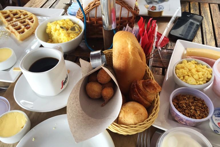Café da manhã no Forte de Copacabana no Rio de Janeiro