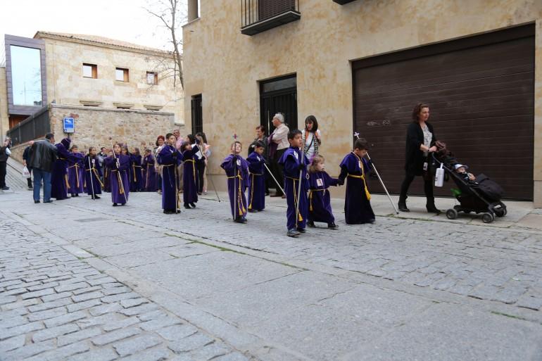 Salamanca com crianças na Semana Santa