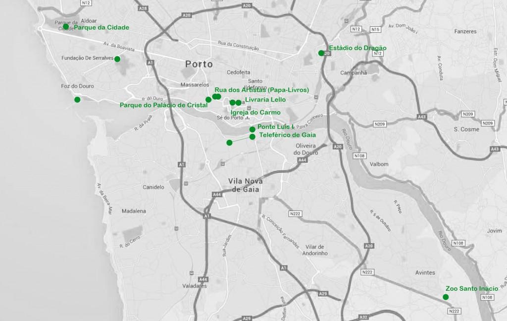 de Jardins do Palácio de Cristal a Parque da Cidade, Porto - Go