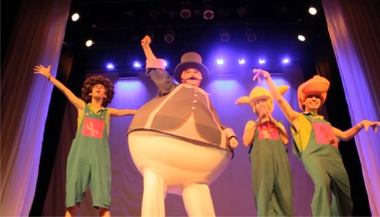 Abril com programação de teatro infantil no Shopping Estação em Curitiba