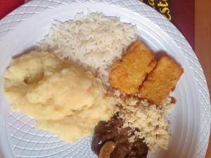 Este foi o primeiro prato do Francisco.