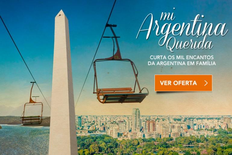 Promoção de pacotes para a Argentina