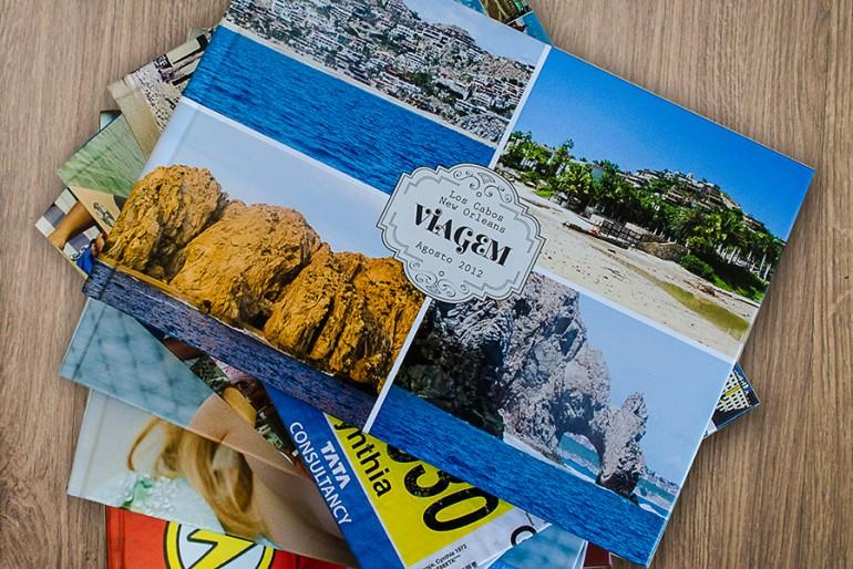 Álbum de fotos de viagem
