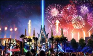 Show de fogos Star Wars é uma novidade