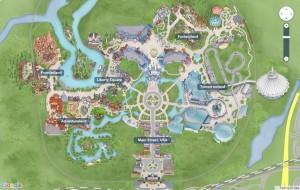O mapa dos parques está disponível no site oficial da Disney e todas as atrações estão sinalizadas