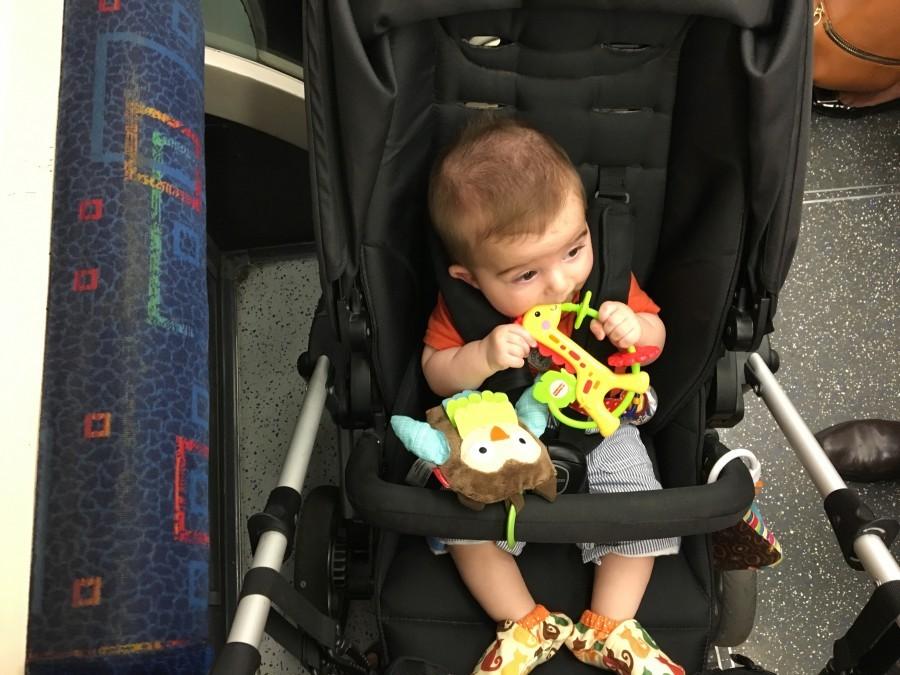 Metrô com bebê em Londres