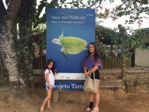 Entrada do Projeto Tamar em Ubatuba