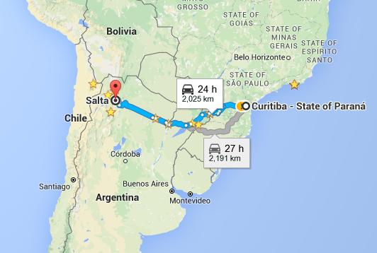 Roteiro Norte Argentina