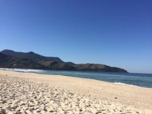 Praia super tranquila no inverno