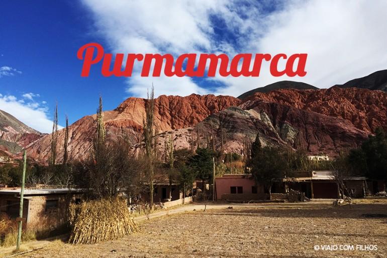 Purmamarca e o cerro de los 7 colores