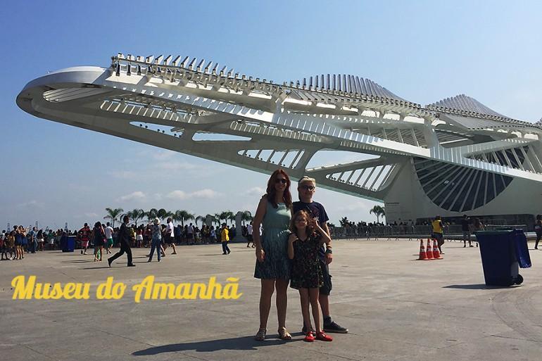 Museu do Amanhã no Rio de Janeiro com crianças