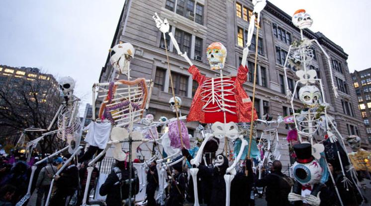 Halloween em Nova York com as crianças